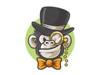 Monkey cartoon character animal zoo ape illustrator vector illustration monkey