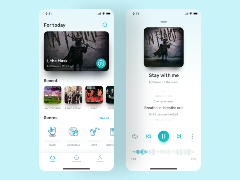 Music App artist song player clean minimal interface ui ux app music player music app music
