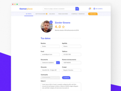 Daily UI #006 - User Profile web ui ux
