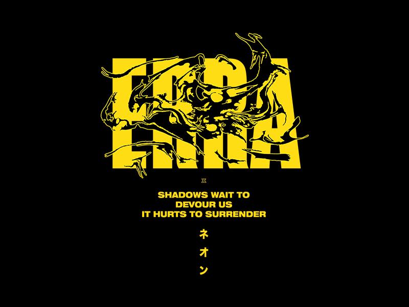 Erra streetwear japanese devour shadows erra hoodie texture vector illustration clothing band band merch design merch apparel design apparel