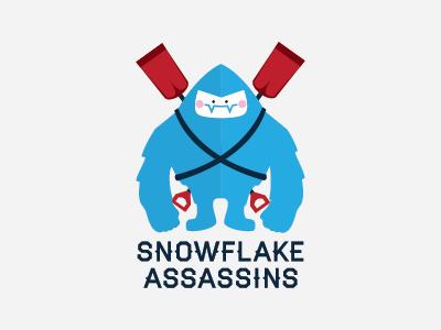 Snowflake Assassins  logo yeti snow shovel blue winter haymaker cute monster rockford snow scupting