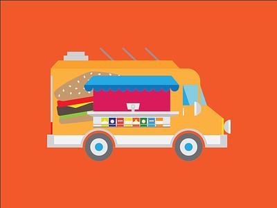 Summertime Snacks sticker mule summer time food truck yum rebound food summertime summer truck
