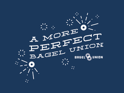 A More Perfect Bagel Union oregon bagels branding