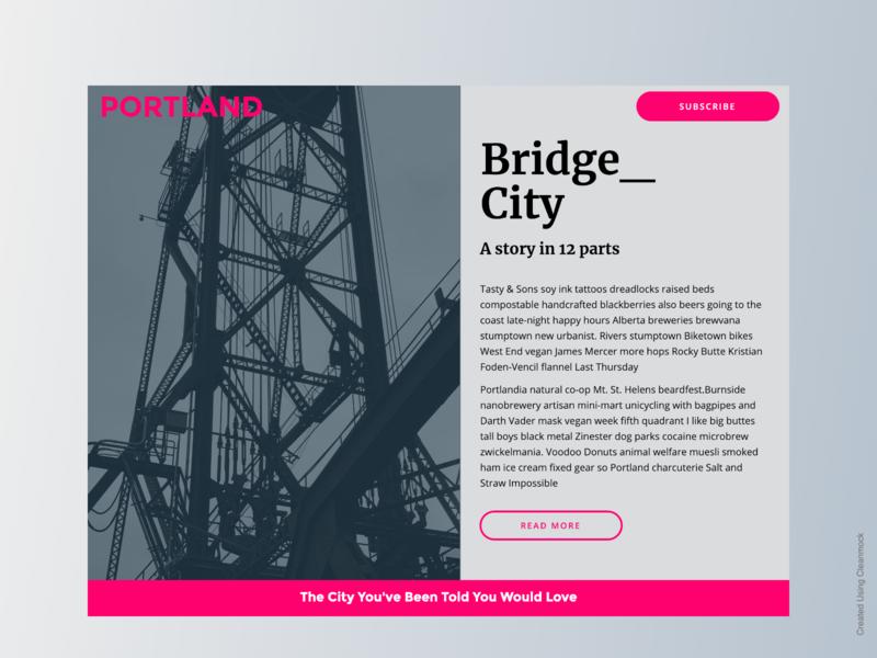 Bridge City + PageCloud