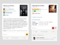 Vurb Mobile Web Cards