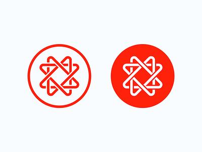 Physics-y logo symbol modern simple logo design minimalist science nuclear modernist red logo cern physics accelerator particle