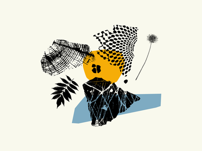 Collage 3 web icon vector branding logo modernism color design texture flat illustration