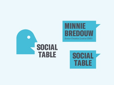 Social Table logo system ideo modernism lectures nonprofit brand logo table social