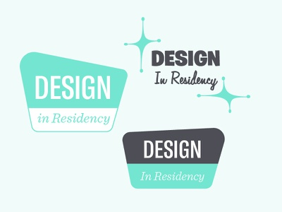 Design In Residency logos typography mid-century non profit modernism funky green residency design logo vegas national parks
