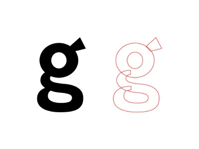 g design letters type two-story type design typography