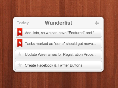 Wunderlist Android Widget badge ui upcoming task android widget wunderlist 6wunderkinder todo star table list interface wood design