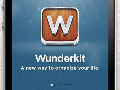 Wunderkit iPhone App - Splash Screen wunderkit 6wunderkinder iphone ios app splashscreen