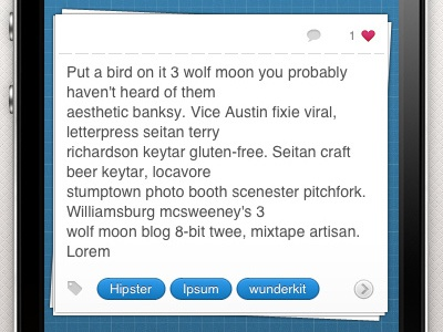 Wunderkit iPhone App - Sidebar Workspace wunderkit 6wunderkinder iphone ios app workspace note tag like comment