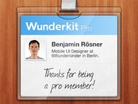Wunderkit iPhone App - Pro Member Card