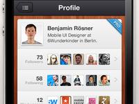 Wunderkit iPhone App - User Profile