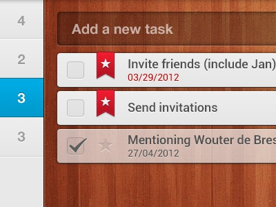 Wunderlist for Android Tablet by Benjamin Roesner | Dribbble