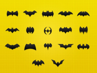Batman Icon Collection – Freebie .psd bat movie icon icons set dark freebie free download psd glyph iconset