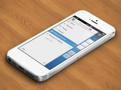 Wunderlist 2 - iPhone Sidebar wunderlist task todo starred icon interface iphone ios mobile wood 6w 6wunderkinder swipe share list aufgabe checkmark taskmanager notification ui table avatar paper star
