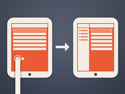 iPad Wireframe ipad wireframe interaction finger thumb swipe vintage comic ios arrow simple mockup