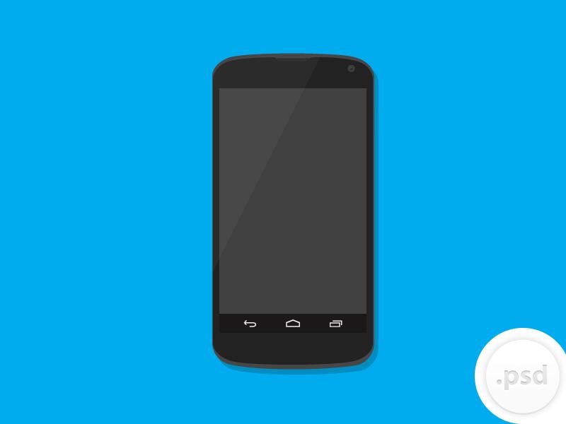 Nexus 4 vector mockup 1