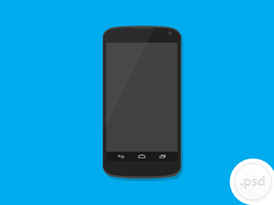 Nexus 4 Vector Mockup phone android google mobile freebie psd download free vector ai illustrator file