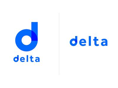 Delta Logo minimal strategy branding logo