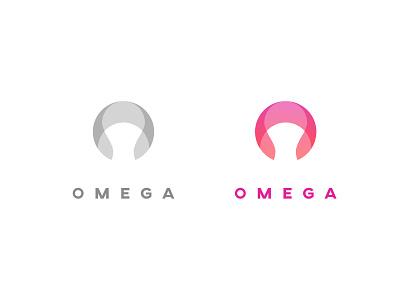 Omega simple modern minimal red gradient o logo o logo icon branding