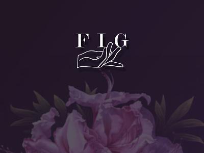 Dribbble Fig Logo illustration hand elegant purple plum restaurant logo f logo fig logo icon branding