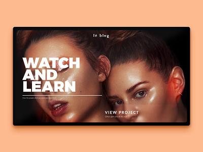 Le Blog bold opaque glass minimal branding blog