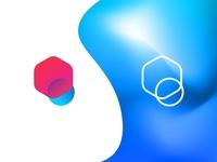 Interlinked Polygon/Pixel Logo