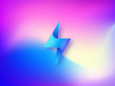 ⚡Lightning Bolt Logo ⚡ 3d logo lightning lightning bolt modern clean icon gradient brand identity logo minimal branding