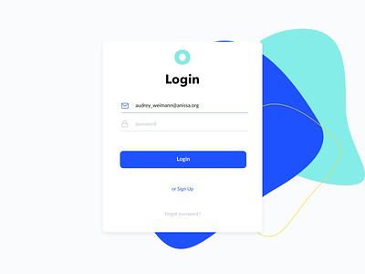 Clean Login password sign up form login form sign up sign in login o logo blue flat clean minimal