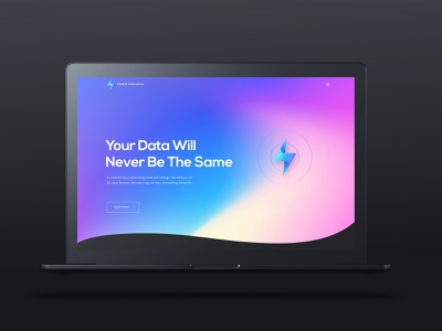 Instant Interactive Homepage 3d logo macbook mockup gradient clean brand identity logo branding minimal