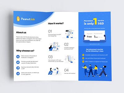 Trifold Brochure sale branding illustration ui leaflets