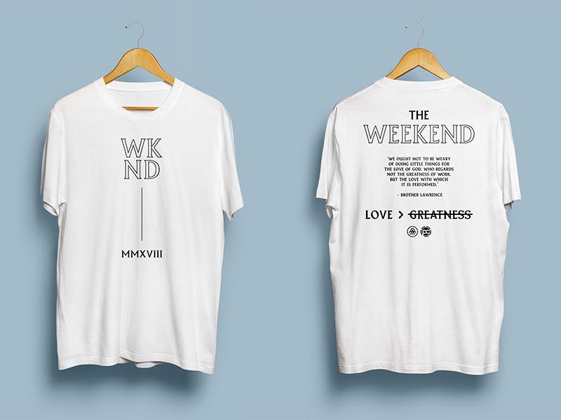 Weekend shirt design merch layout weekend conference promo create design tshirt shirt