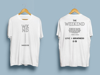 Weekend shirt design