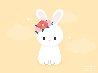 Bunny character design design vector cute art illustration easter bunny easter sweet cute