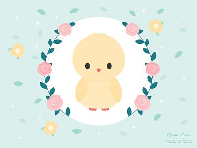 Happy Easter animals character design design vector childrens kids sweet vectorart floral kawaii art cute illustration chick happy easter easter