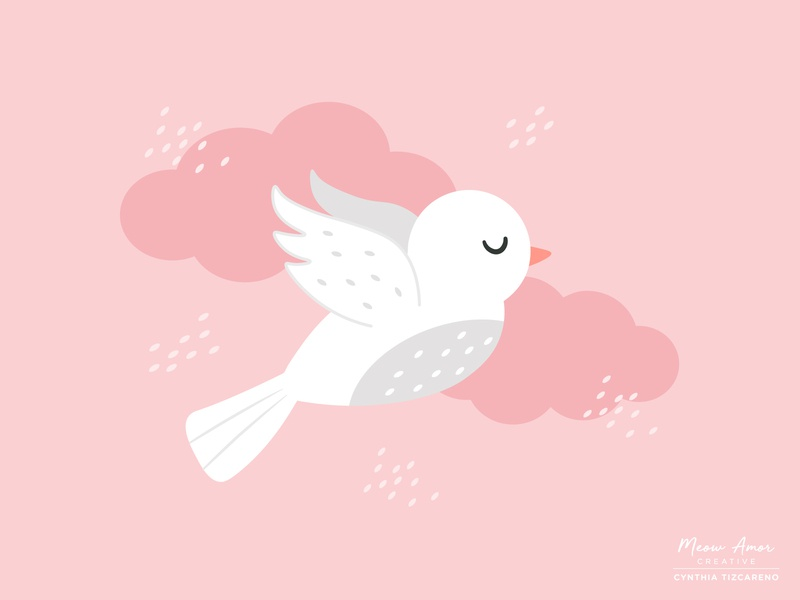 peaceful dove peaceful vector cute illustration printandpattern surfacedesign bird dove