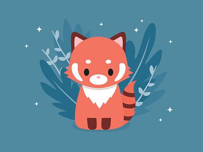 redpanda adorable kids nursery vector animals cute illustration sweet redpanda