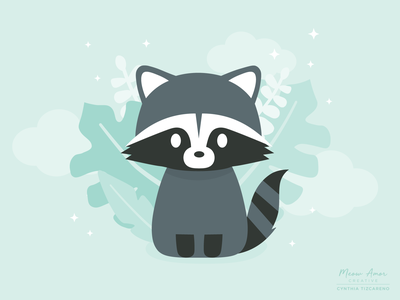 Racoon design character design simple illustration cute illustration cute animals vector illustration sweet racoon cute
