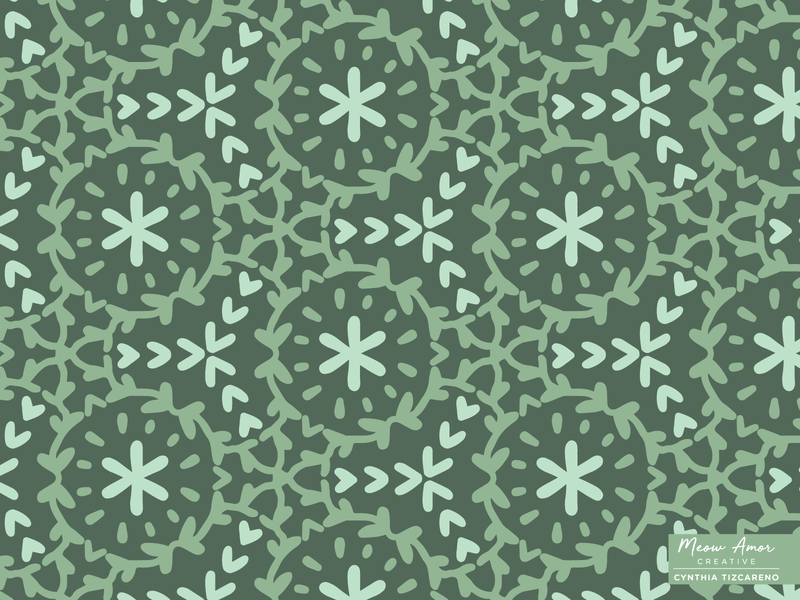 earth vines and florals illustrator abstract geometric spoonflower textile pattern seamlesspattern florals vines surface pattern pattern design olive green green