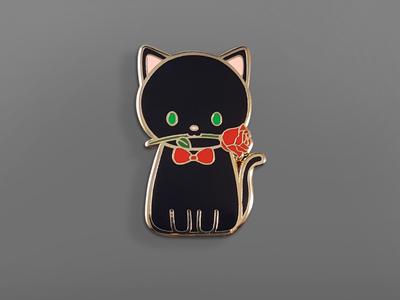 Valentines Kitty Hard Enamel Pin