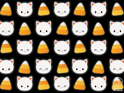 Candy Corn Cat Pattern