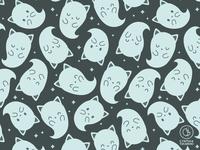 Cat Ghost Pattern