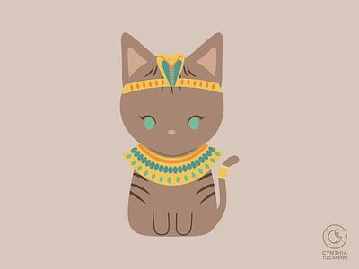 Cleopatra Cat cat halloween illustration cat illustration regal sphynx cat hairless cat sphynx cute cleopatra egypt