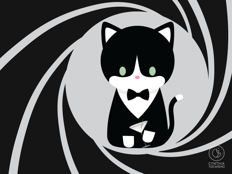 James Bond Cat By Cynthia Tizcareno On Dribbble