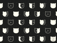 Cat Moonphase Pattern