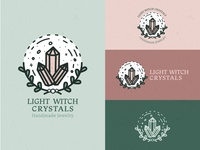 Light Witch Crystals Logo Design