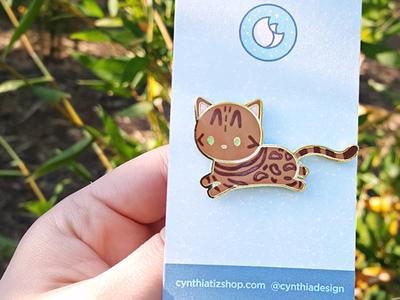 Bengal Cat Enamel Pin cute illustration design accessories lapelpin illustration cat enamel pin bengal cat